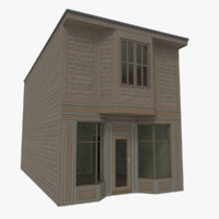 Timber building one with interior textured