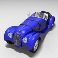 1936 BMW 328 Car Model