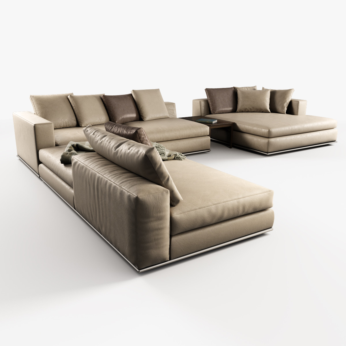 modular sofas hamilton minotti 3d model. Black Bedroom Furniture Sets. Home Design Ideas