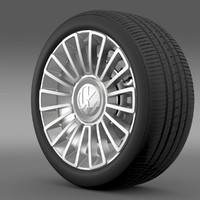 3d volkswagen wheel model