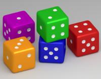 3dsmax colorful dice