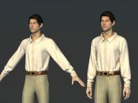 clothes man shirts obj