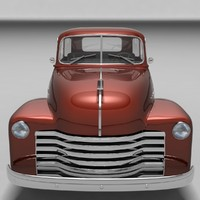 3ds max 1951 chevrolet pickup car