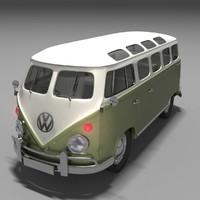 1962 volkswagen kombi 3d max