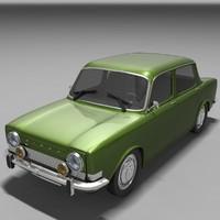 3d model simca 1000 car