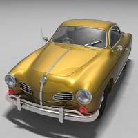 1962 volkswagen karmann ghia 3d model