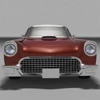 1957 thunderbird 3d model