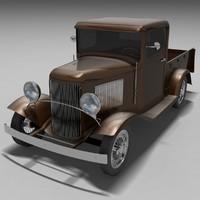 3d model b pickup car