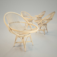 maya armchair natural rattan