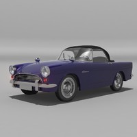 sunbeam alpine 1961 3d model