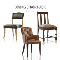 3d dining chair pack -