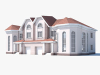 3d classic house