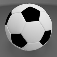 3d soccer ball football model