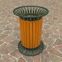 3d model outdoor trash