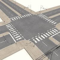 3d streets roads highways collections model