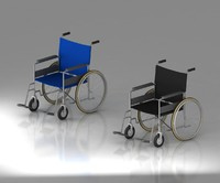 wheelchair whee chai 3d model