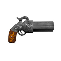 ready pepperbox pistol 3d blend