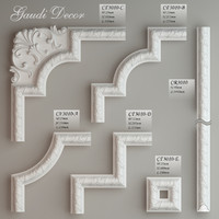 3d model molding corner elements gaudi