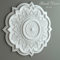 3d model ceiling rose gaudi decor