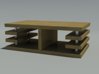 3dsmax modern coffee table wood
