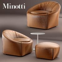 3d max minotti capri armchair