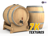 3d model wine barrel
