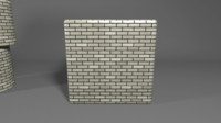 Brick texture gray