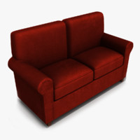 3d model loveseat furniture sofa
