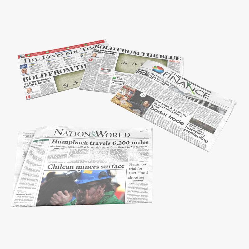 Newspapers 3d models 00.jpg