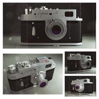 3d model of old ussr camera zorki