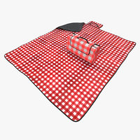max picnic blanket red set