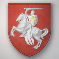 3d model chase coat arms republic