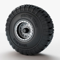 wheel arctic tires 3d max