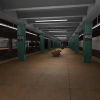 3d model new york subway