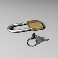 key padlock lock 3d model