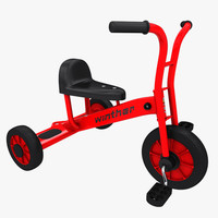 realistic winther tricycle 3d model