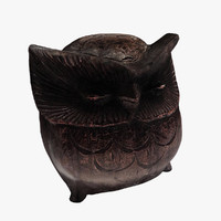 3ds max figurine owl