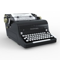 3d model royal typewriter