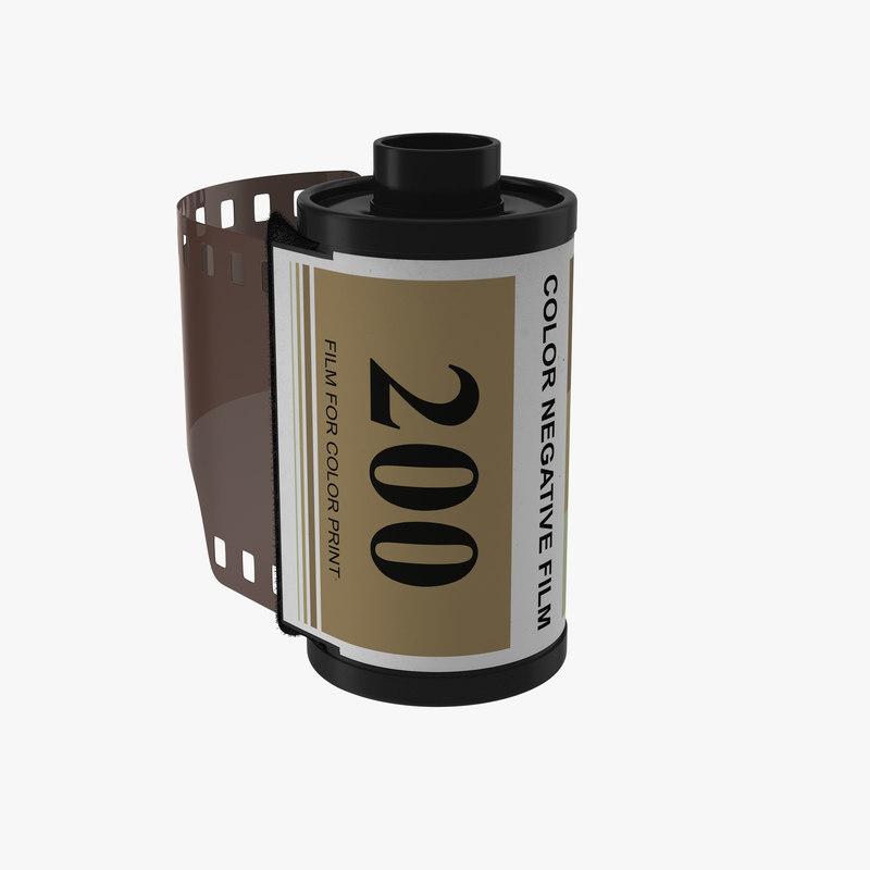 35mm Film Roll Gold 3d model 00.jpg