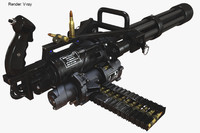 3ds max minigun polygons