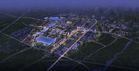 3d model of city planning 052