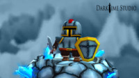 cartoon knight games 3d model