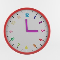 3d childrenes wall clock
