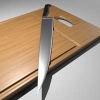 free cutting knife board 3d model