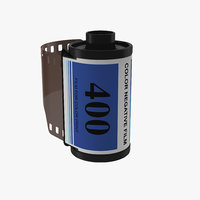 3d model 35mm film roll blue