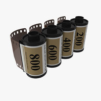 3ds 35mm film roll gold