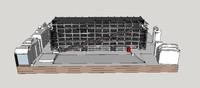 3d pompidou center building