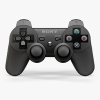 3d model of sony dualshock 3 wireless