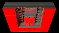 3dsmax cabinet heart