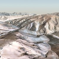 3d 16km mountain terrain landscape